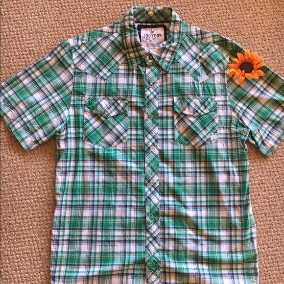 Zoo York Other - Zoo York green plaid shirt